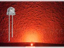 50 x LED 5mm straw hat - ORANGE, 90-120° 1000mcd Kurzkopf Flachkopf orange