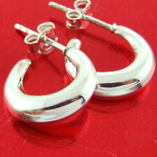 Silver Ladies Stud Hoop Design Earrings Genuine Hallmarked Real 925 Sterling