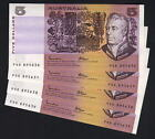 R-209a. (1985) Johnston/Fraser - 5 Dollars. OCRB. aU-UNC - CONSEC Run of 4