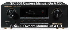 Marantz Sr4300 Owners Manual All 44 Pages All On A Cd