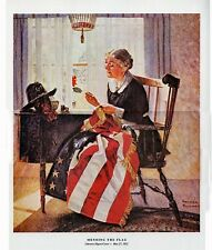 Norman Rockwell Print Mending The Flag