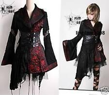 Lolita Punk COSPLAY Gothic kimono DRESS +Skirt Set M