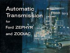 Ford Zephyr & Zodiac Mk2 Automatic Transmission 1959-60 UK Market Sales Brochure