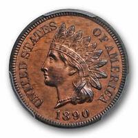 1890 1C Indian Head Cent PCGS PR 63 BN Proof Brown Low Mintage