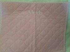 Pottery Barn Kids Pink Quilted Placement Alexis New