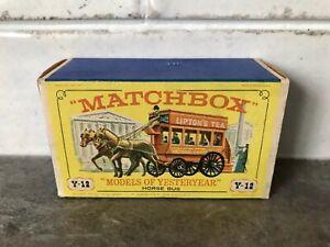 MATCHBOX LESNEY YESTERYEAR Y12-1 HORSEDRAWN BUS TYPE 'D3' BOX