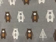 Bear Cot Pram Blanket Indus Design Newborn Shower Gift Baby Boys Girls Cotton