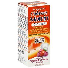 Motrin Childrens Dye-Free Pain - Fever Reducer, Original Berry Flavor 4 oz