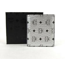 MCM Berlin Silver Coated Canvas Bi-Fold Flap Wallet w/ID Window MYS9SVI94SB001