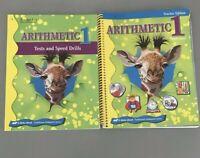 Abeka Arithmetic 1 Worktext Teacher Key & Tests & Speed drills Teacher Key