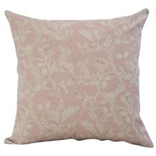 """Vintage Style Trailing Floral Cushion. Double Sided 17""""x17"""" Square. Blush Pink."""