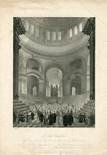 «St. Paul' s Cathedral' grabado por W.H. Fuge de un estudio de F. Mackenzie