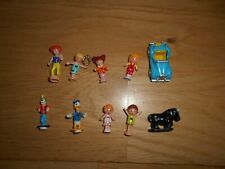 VINTAGE POLLY POCKET SPARE DOLLS FIGURES FOR PLAYSETS X10 LOT 3
