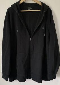 "Mens BIG TALL 2XL 1XB RALPH LAUREN Fashion Zip Hoody Jacket Casual Retro Gym 56"""