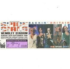 SPICE GIRLS Concert Ticket Stub LONDON UK 9/20/98 WEMBLY ARENA SPICEWORLD TOUR