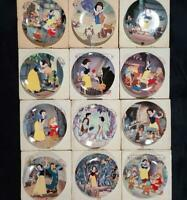 VTG DISNEY SNOW WHITE COLLECTOR PLATES FULL SET of 12 Edwin KNOWLES PLATES WOW!