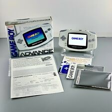 Nintendo GBA Game Boy Advance ARTIC WHITE IPS v2 Screen COMPLETE CIB BOXED