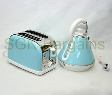 Matching Kitchen Set 1.8L Electric Cordless Kettle 2 Slice Bagel Toaster T- Blue
