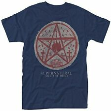 Plastic Head Men's Supernatural Join The Hunt T-shirt Blue Large