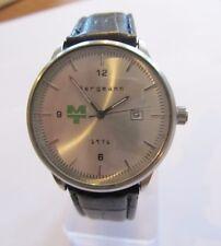 Bergmann 1976 MT * Rund * Herren Quarz Uhr * Lederband Schwarz * Neu selten