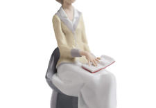 Nao A Lesson in Learning. Porcelain Woman Reading Figure.