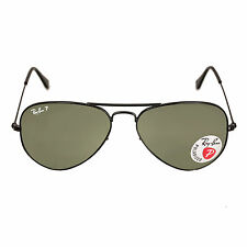 Ray-Ban RB 3025 002-58 55 Gent's Black Metal Frame Green Sunglass