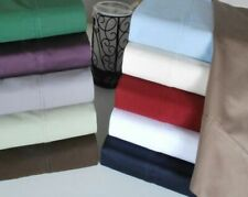 1000 Tc Soft Egyptian Cotton Drop Length Wrap Around Bed Skirt Us Sizes & Solid.