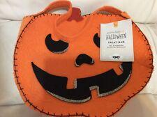Pottery Barn Kids Felt Pumpkin Halloween Treat Tote Bag No Mono Jack O Lantern