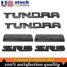 2000-2019 Toyota Tundra Matte Black Out Emblem Badges tailgate 6 Pcs Black Set