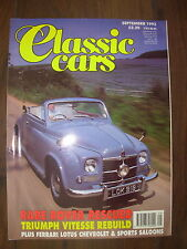 CLASSIC CARS MAGAZINE SEPTEMBER 1992 RARE ROVER P4