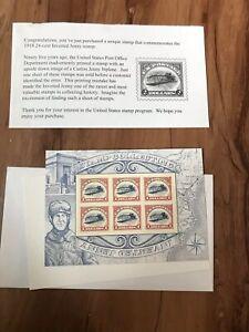 1918 24¢ Cent Inverted Jenny $2 Dollar Stamp 2 Sheets Of 6 Commemorative Sets