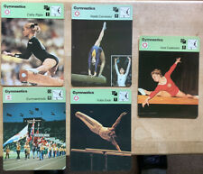 5 Olympic Gymnastics  Rencontre Collectible Cards Cathy Rigby, Nadia Comaneci
