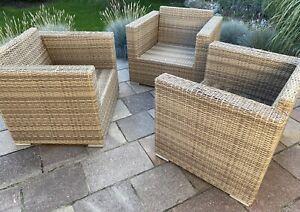 Siena Garden Loungemöbel Sessel Set Gruppe Polyrattan Gartenmöbel