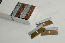 100 x New Single Edge Razor Window Windscreen Scraper Safety Blades Oven Clean