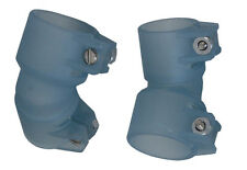 "(2) Pro-Team Products Pro-Feed 7/8"" Feed Elbows - Light Blue"