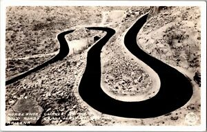 RPPC Horse Shoe Curves on Route 66 East of Oatman AZ Vintage Postcard X37