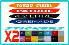 Bonnet stickers GU Nissan Patrol - customisable,  16 colours
