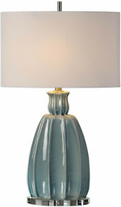 Suzanette Sky Blue Ceramic Table Lamp by Uttermost #27251