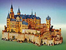 Burg Hohenzollern 1:250 Reprint J.F. Schreiber Reprint Kartonmodell Bastelbogen