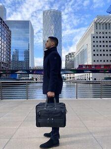Office Leather Bag Laptop Messenger Briefcase Work Cabin Travel Cowhide Genuine
