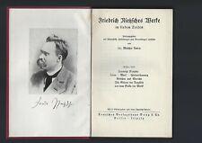 Nietzsche - Werke (  7 Bände in 4 Bänden gebunden )  Berlin 1931