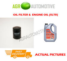 PETROL OIL FILTER + FS 5W40 ENGINE OIL FOR RENAULT CLIO 1.2 58 BHP 1996-98
