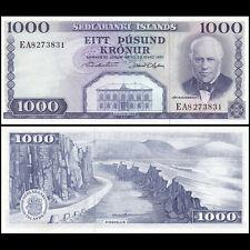 Iceland 1000 Krona 1961 Notes