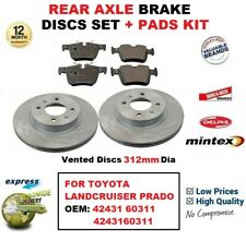 FOR TOYOTA LANDCRUISER PRADO OEM: 42431 60311 4243160311 REAR BRAKE PADS + DISCS
