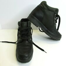Timberland Boots Women's Size 8.5M Black Leather Hiking Trail Chores Lace Up