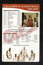 California Vulcans--2003-04 Basketball Magnet Schedule