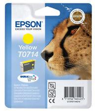 Cartouche d'Encre Originale EPSON T0714 LEOPARD Jaune Yellow 10/2014 Genuine