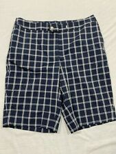 M61 EUC JONES NEW YORK Stretch Signature Plaid Checks Shorts WOMEN'S 10P petite