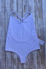 MIKOH COPACABANA MULTI SKINNY STRING RACER BACK ONE PIECE SWIMSUIT WHITE (L) NWT