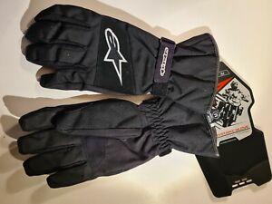 Alpinestars SRS Drystar Waterproof Motorcycle Textile Motorbike Glove Black M
